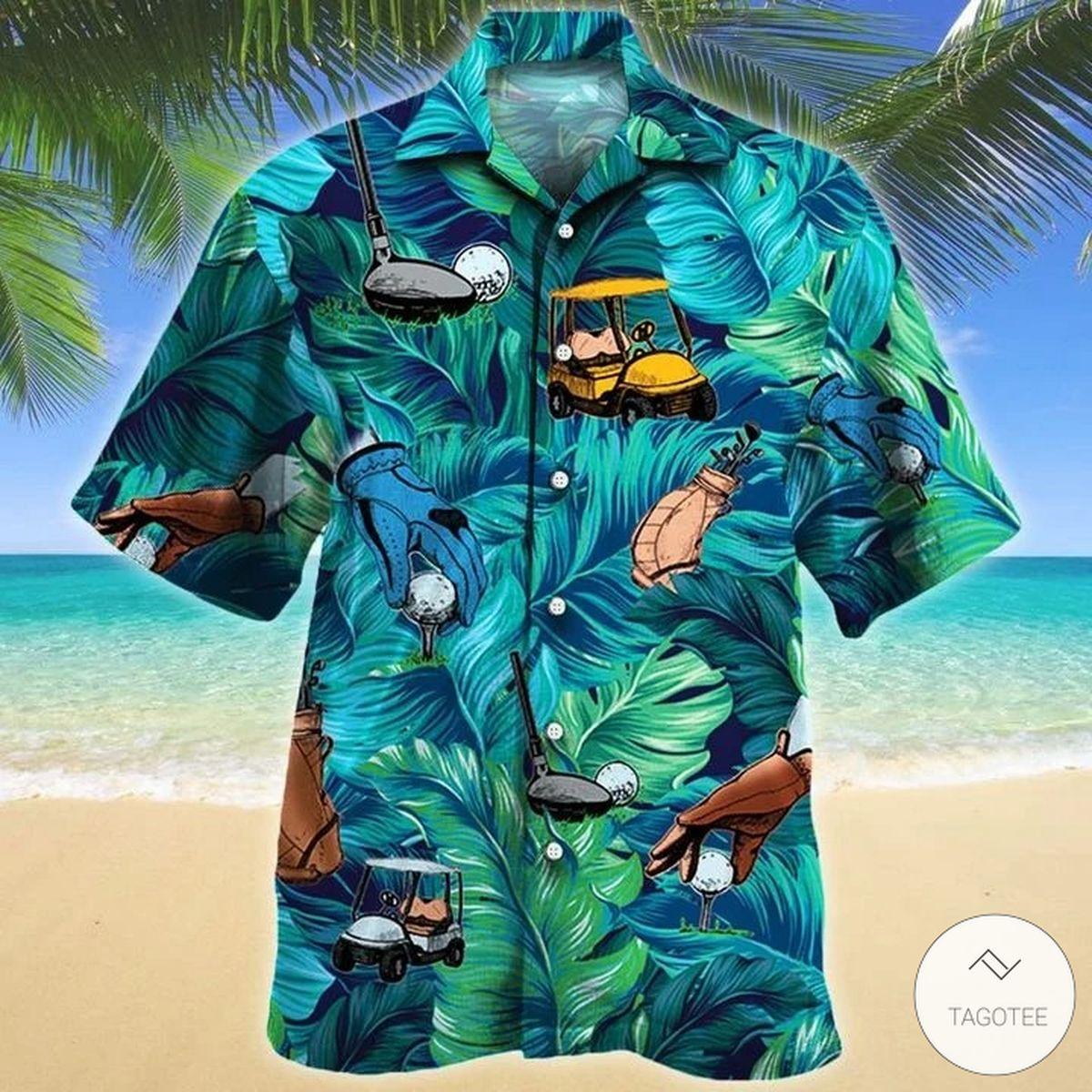 Golf Lovers Tropical Pattern Hawaiian Shirt
