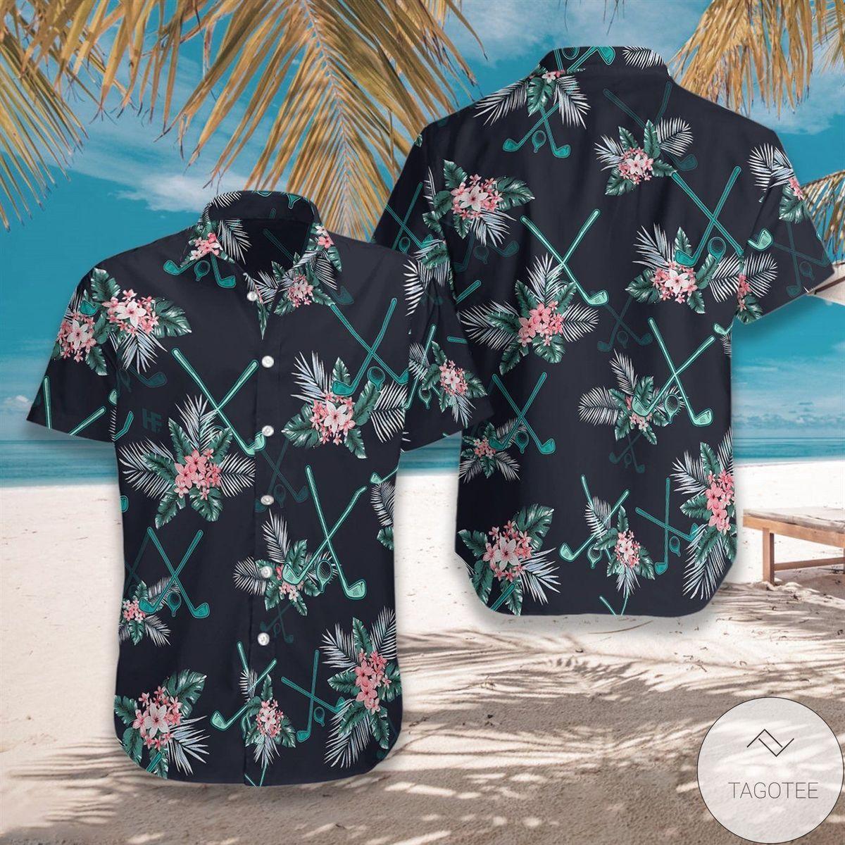 Golf Tropical Hawaiian Shirt