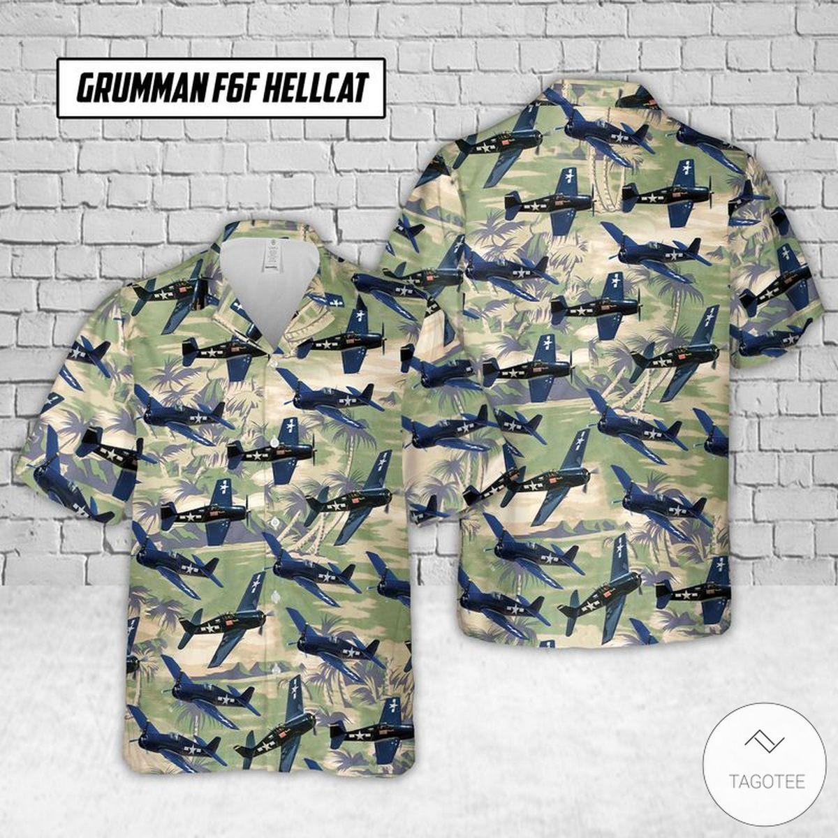 Grumman F6F Hellcat Hawaiian Shirt