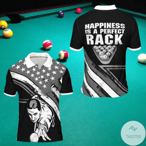 Happiness Is A Perfect Rack Billiard Polo Shirt