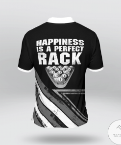 Happiness Is A Perfect Rack Billiard Polo Shirtz