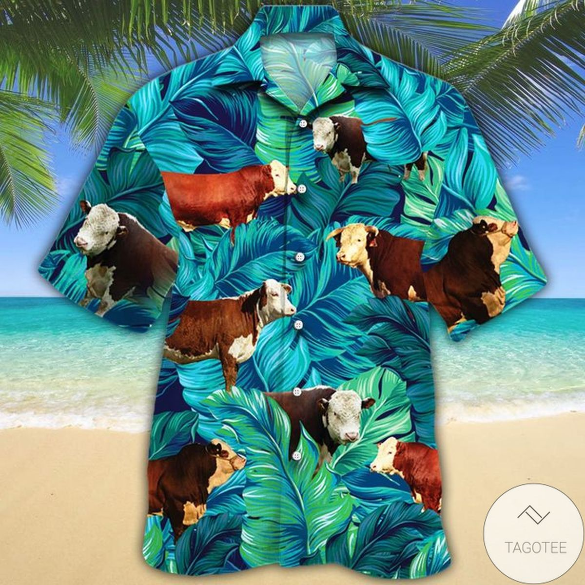 Discount Hereford Cattle Lovers Hawaiian Shirt