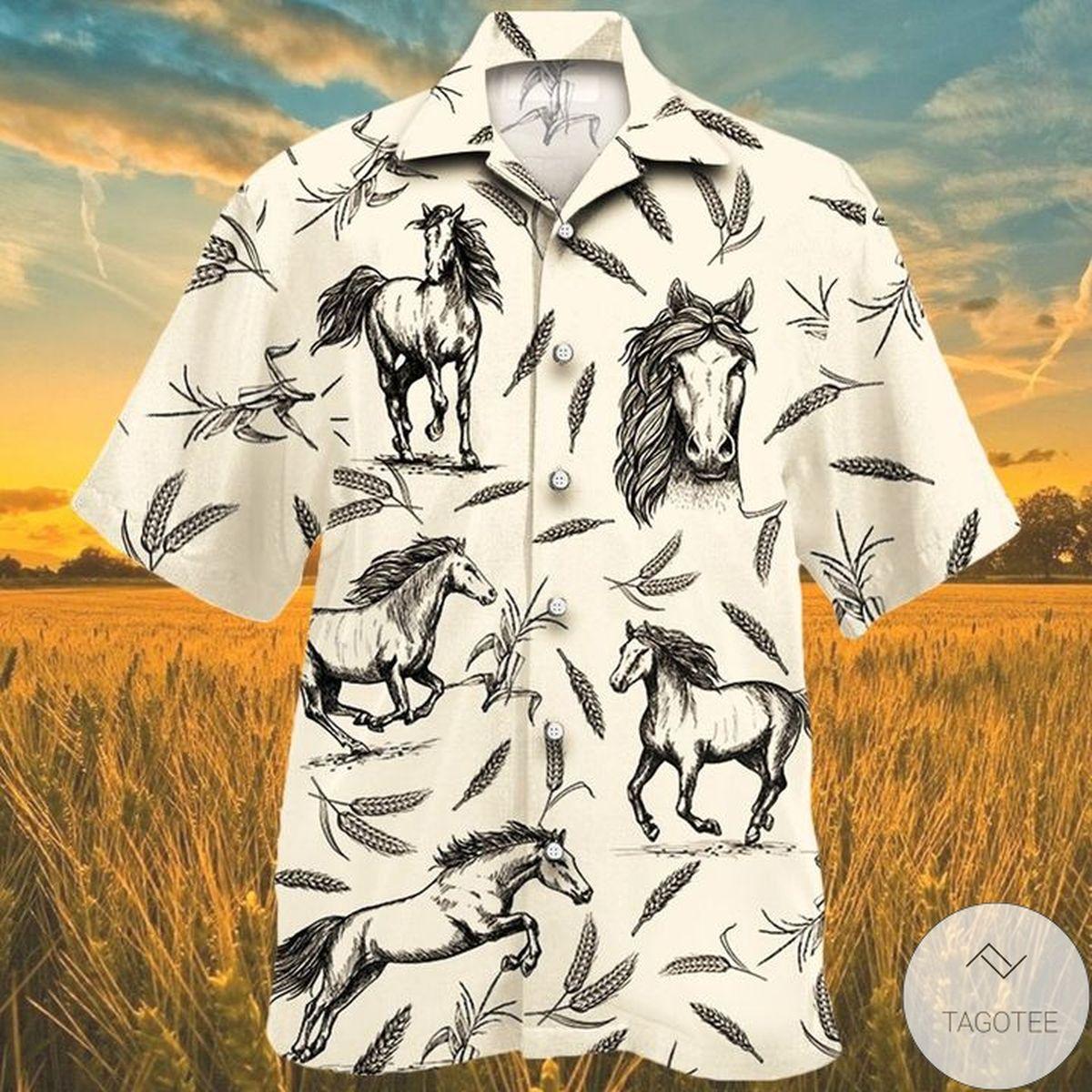 Horse Farm Lovers Hawaiian Shirt
