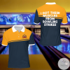 I Got These Muscles From Bowling Strikes Bowling Polo Shirt