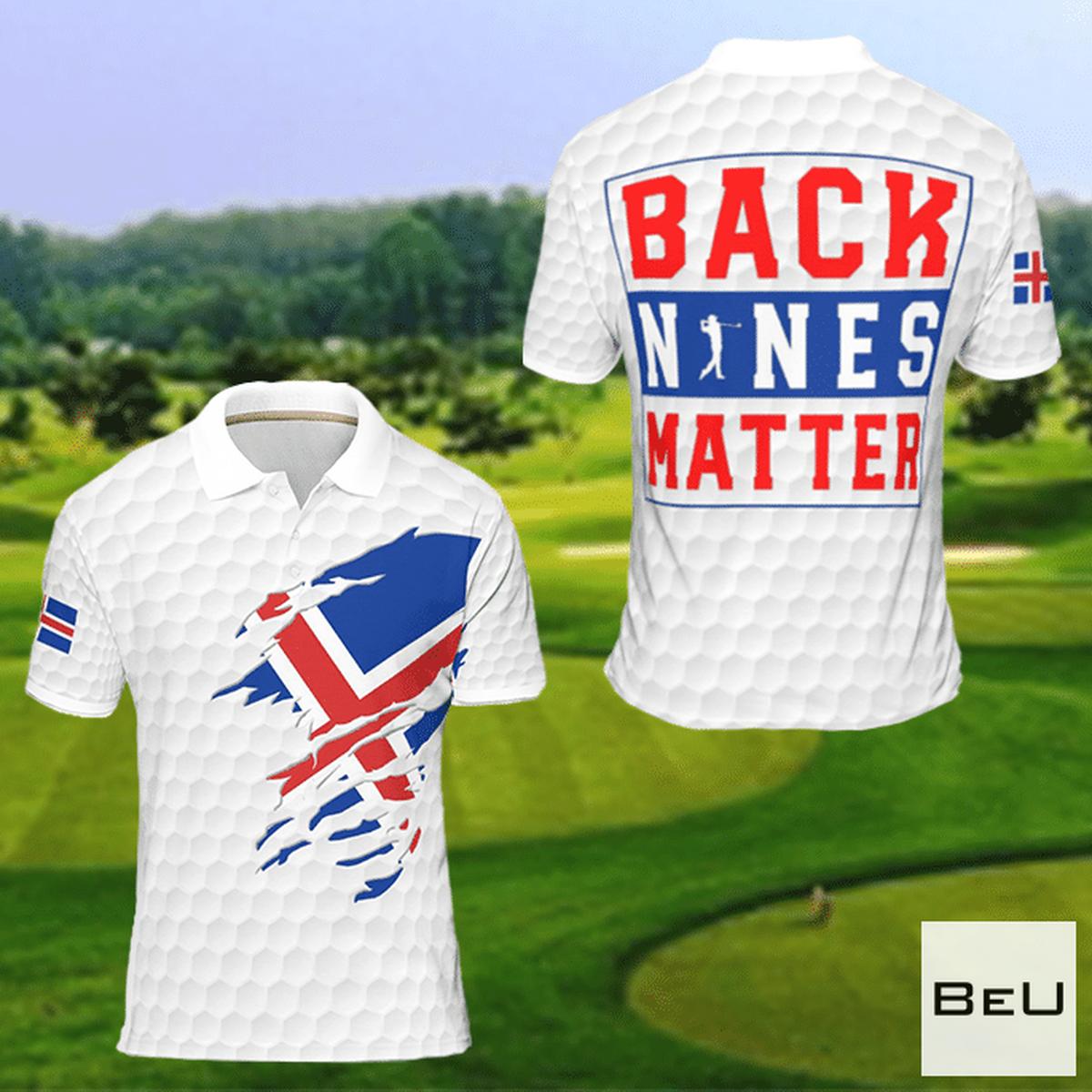 Iceland Back Nines Matter Golf Polo Shirt