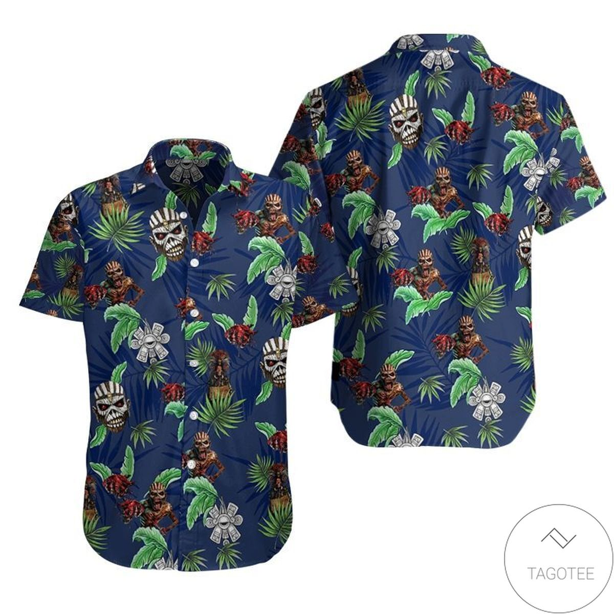 Iron Maiden Band Hawaiian Shirt