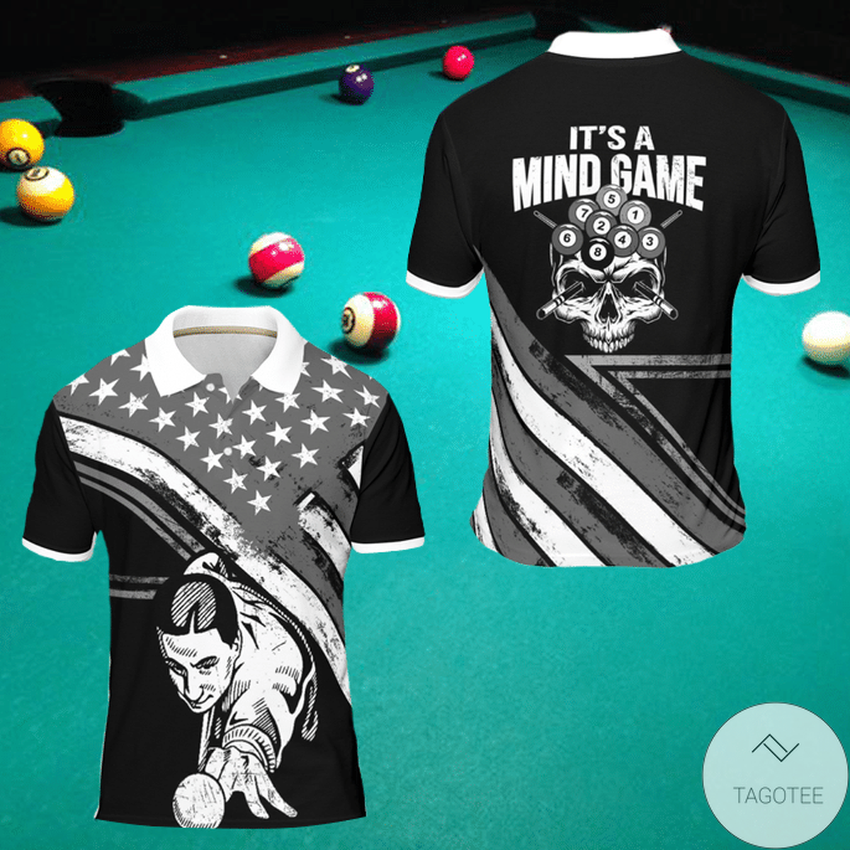It's A Mind Game Billiard Polo Shirt