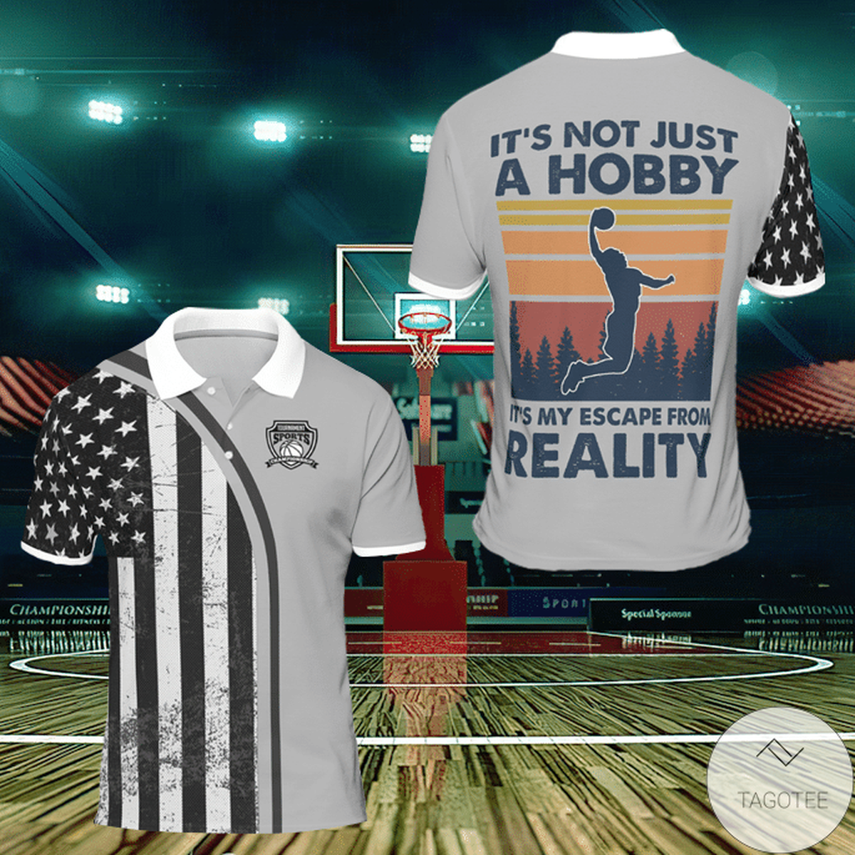 It's Just Not A Hobby It's My Escape From Reality Basketball Polo Shirt