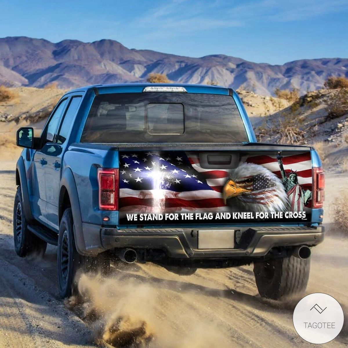 Jesus We Stand For The Flag And Kneel For The Cross Tailgate Wrapz