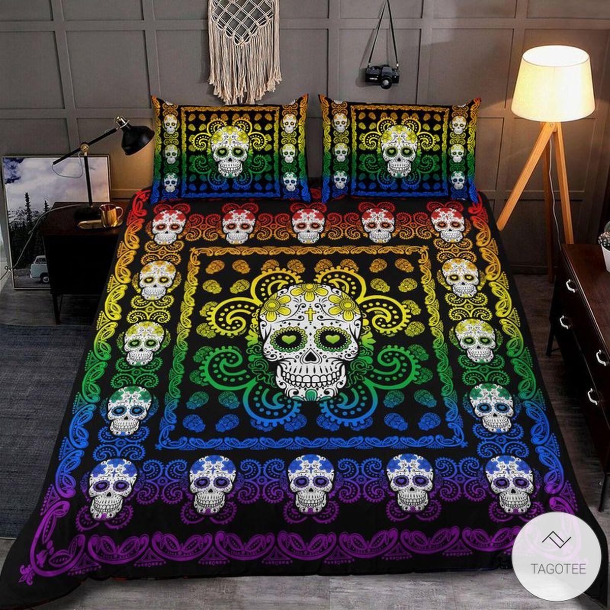 LGBT Sugar Skull Pattern Bedding Set