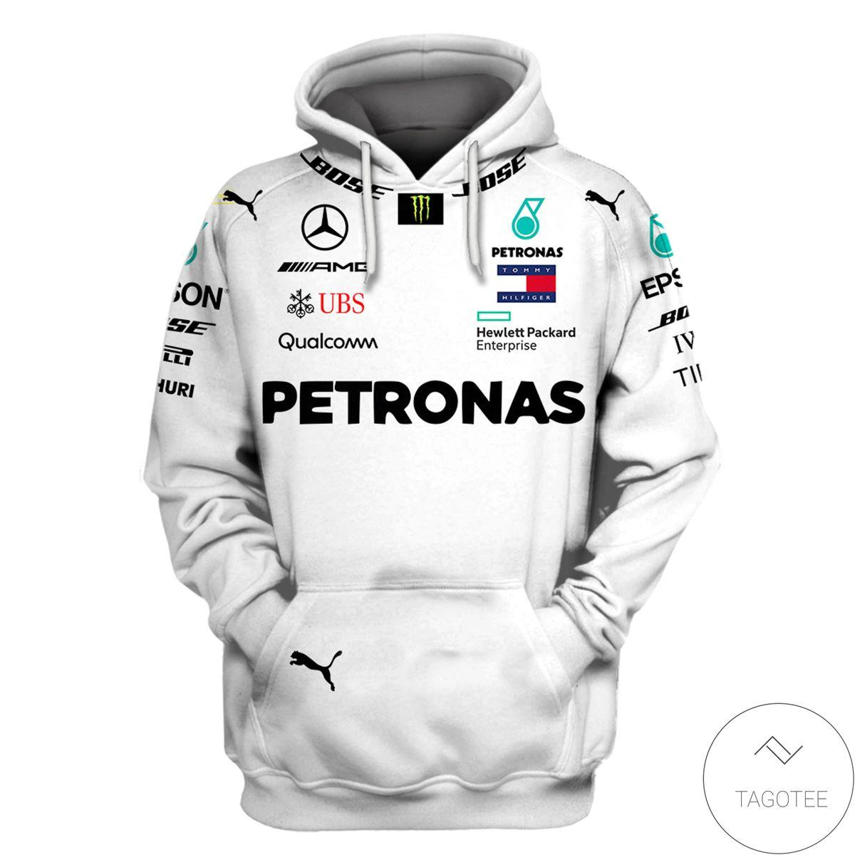 Lewis Hamilton Mercedes F1 3D Hoodie