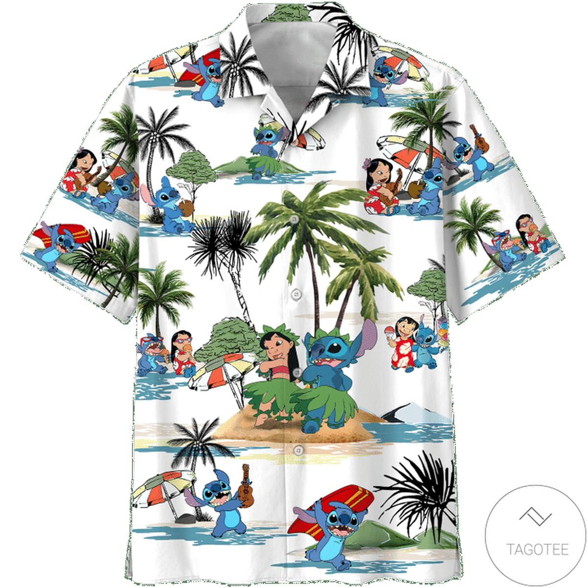 Lilo And Stitch Summer Time Hawaiian Shirt