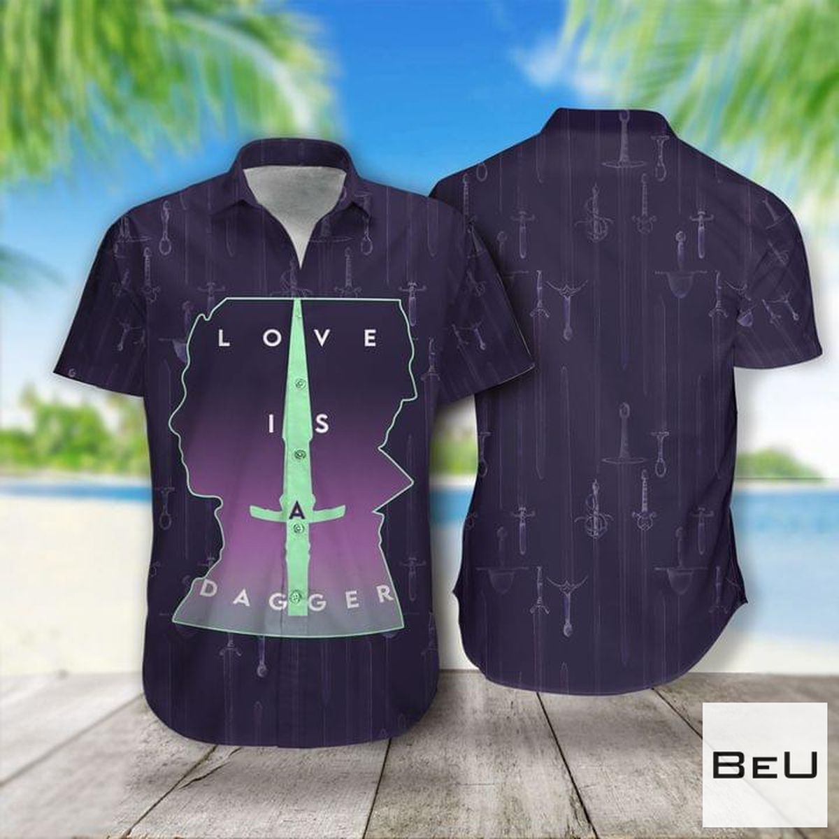 Love Is Dagger Hawaiian Shirt