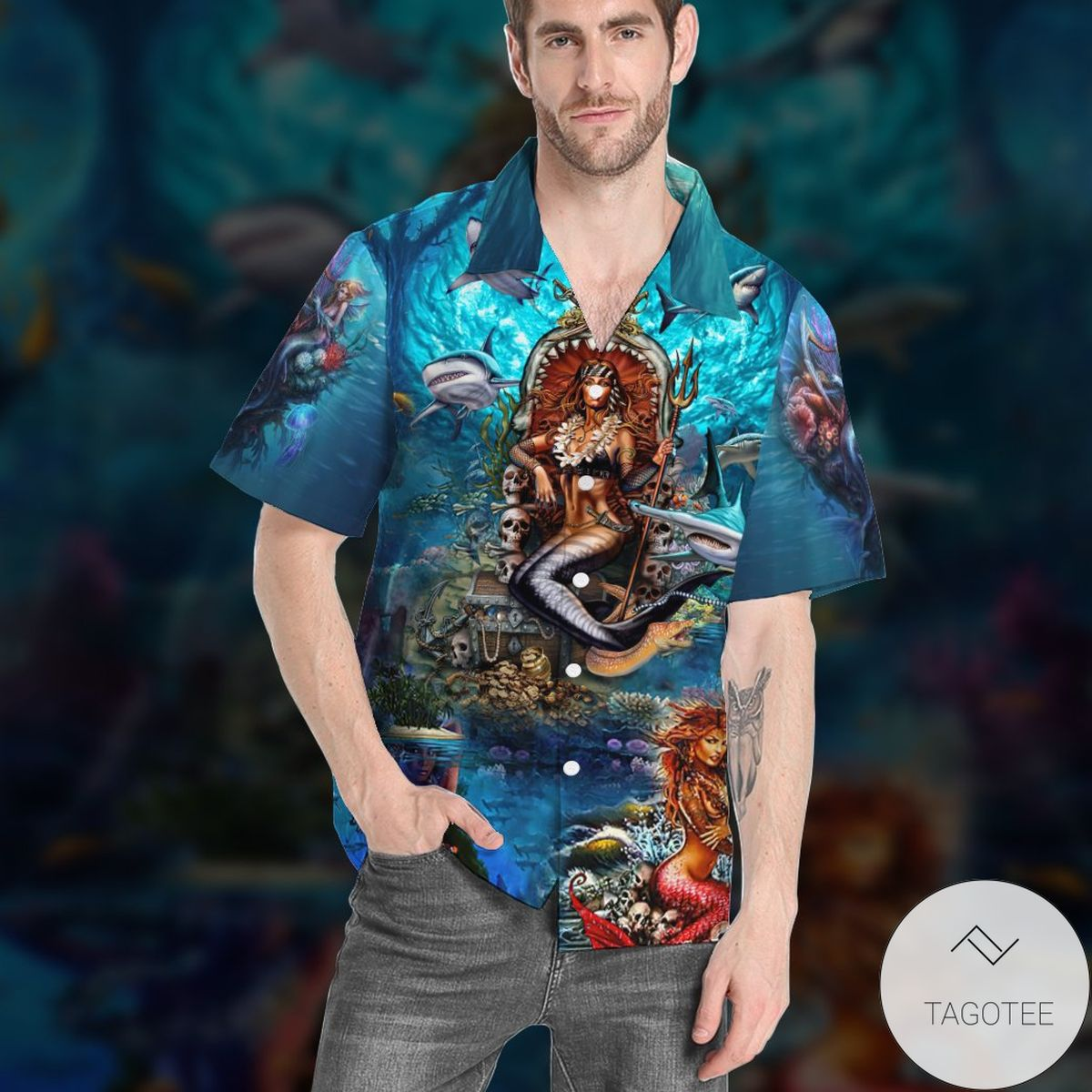 Mermaid In The Ocean Hawaiian Shirt