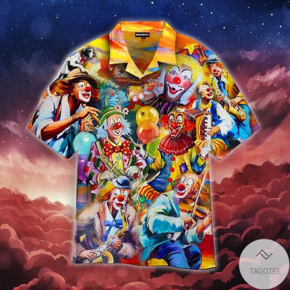 More Clown Less Frowning Hawaiian Shirt