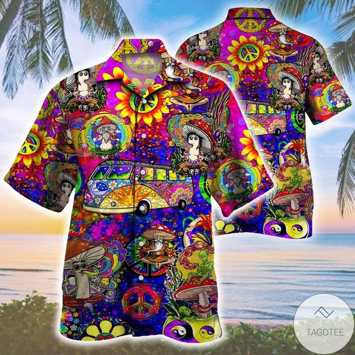 Mushroom Trippy Pattern Hawaiian Shirt