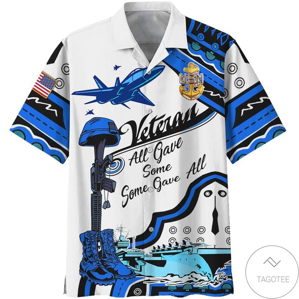 Navy Veteran All Gave Some AOP Hawaiian Shirt