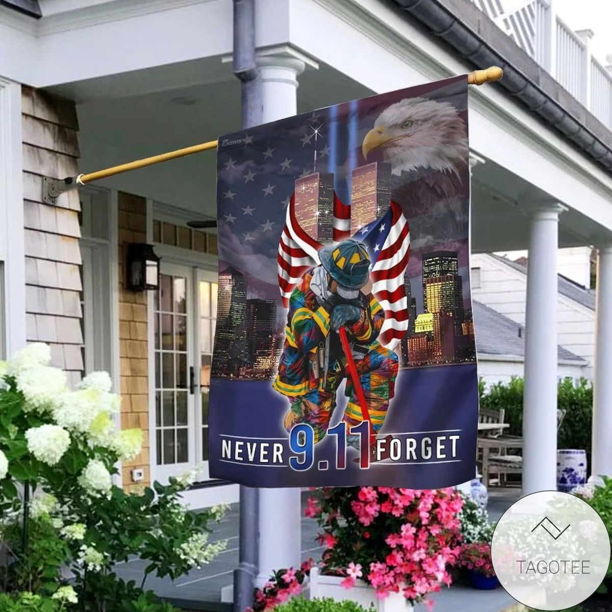 Never Forget September 11th American House Flag