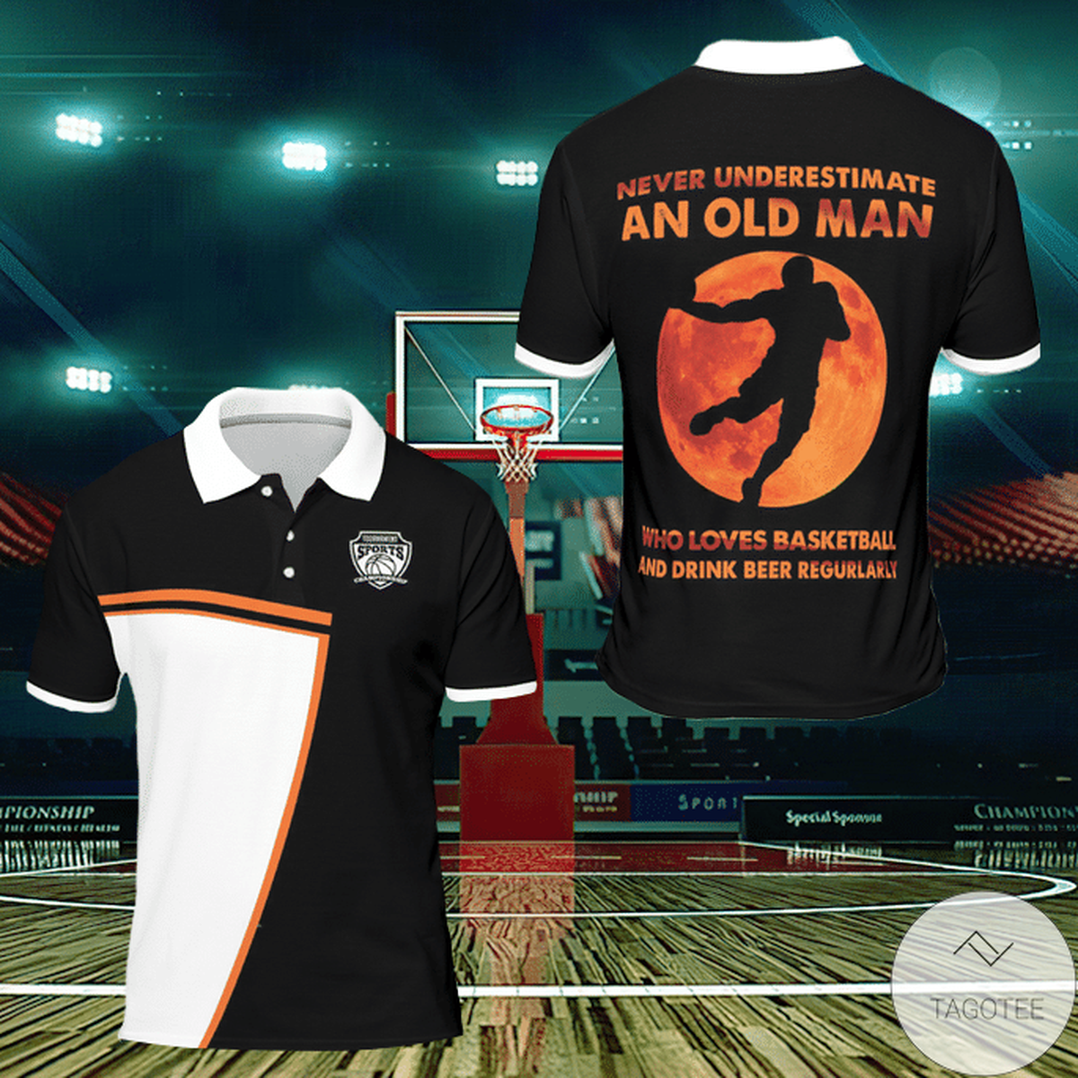 Never Underestimate An Old Man Who Loves Basketball And Drink Beer Regularly Polo Shirt