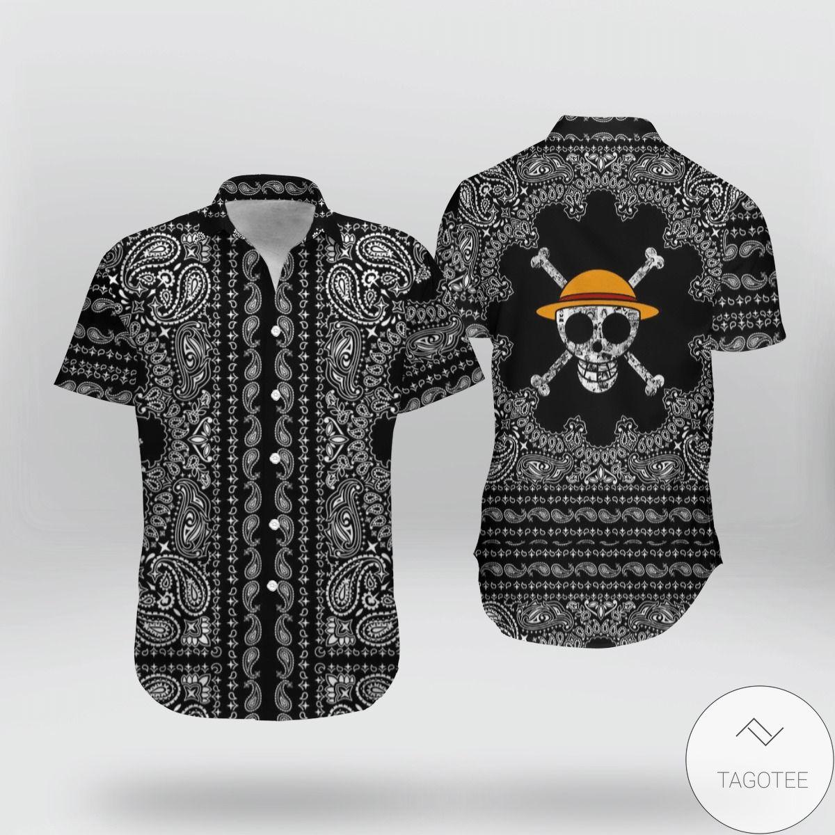 One Piece Skull Hawaiian Shirt