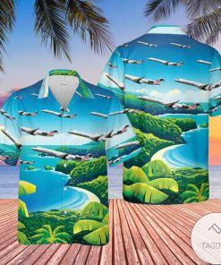 PSA Airlines Bombardier CRJ-900LR Hawaiian Shirt, Beach Shorts