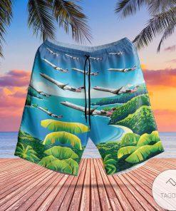PSA Airlines Bombardier CRJ-900LR Hawaiian Shirt, Beach Shortsz