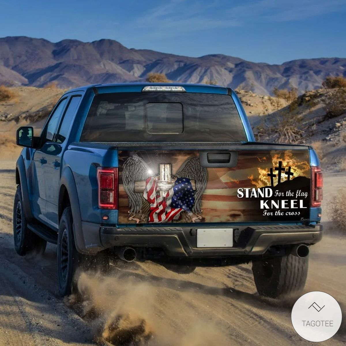 Patriotic Cross American Stand For The Flag Kneel For The Cross Tailgate Wrapz