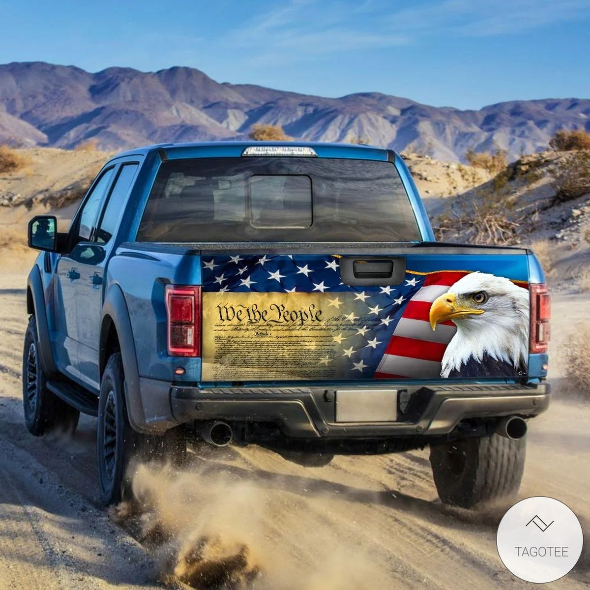 Patriotic Eagle We the People Tailgate Wrap Tailgate Wrapz
