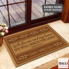 Personalized As For Me And My House We Will Serve The Lord Doormat