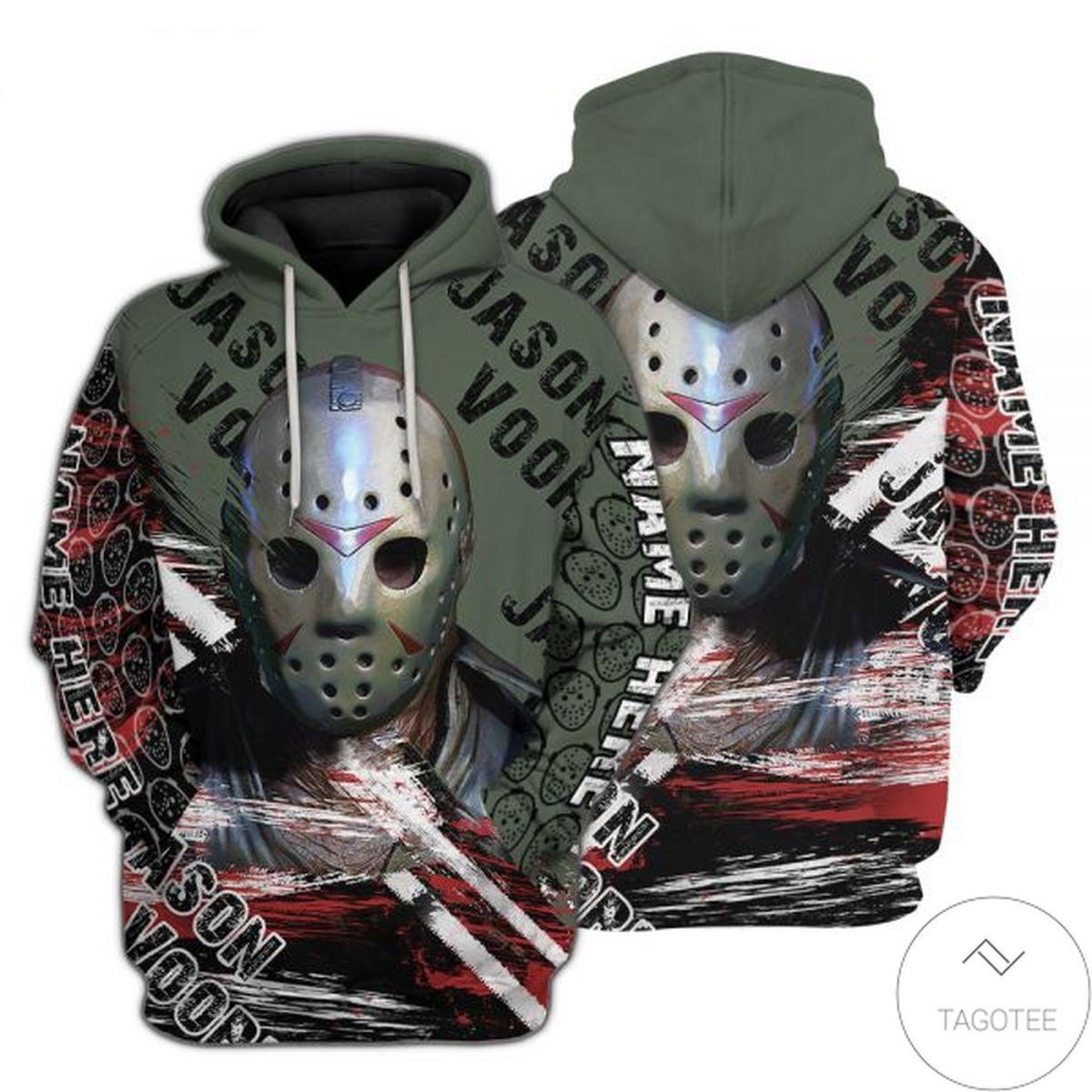 Personalized Jason Voorhees 3D Hoodie