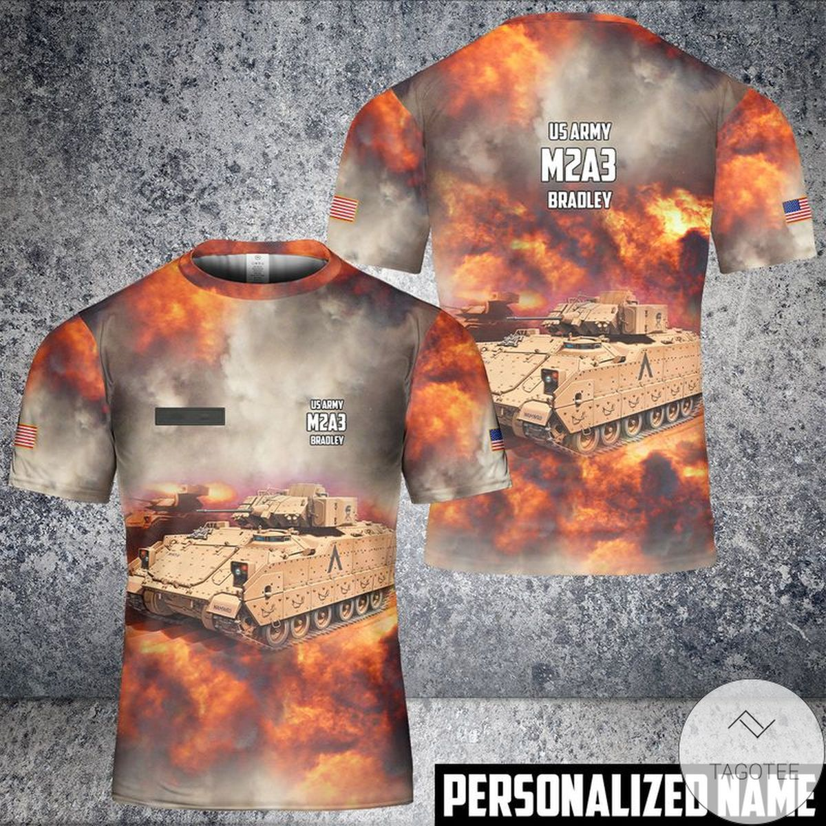 Personalized Name US Army M2A3 Bradley T-Shirt