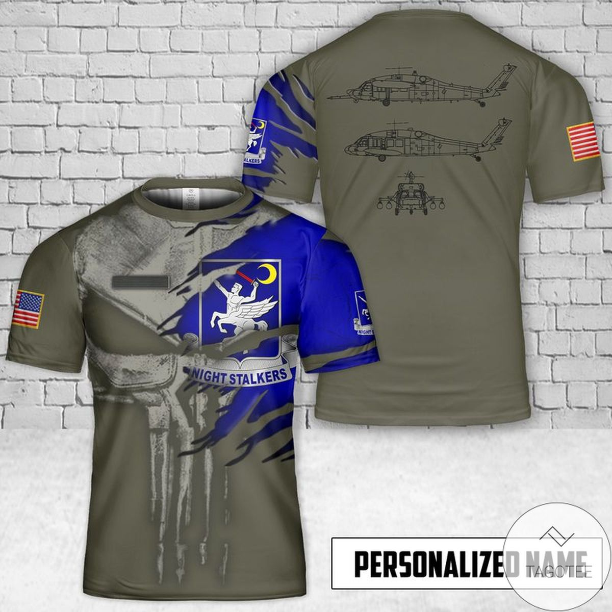 Personalized Sikorsky UH-60 3D T-Shirt