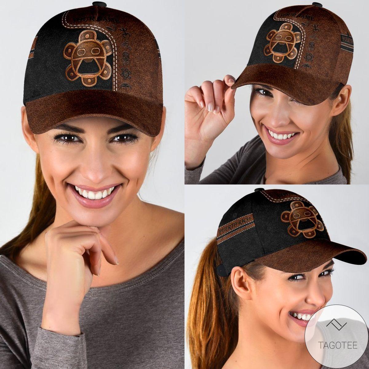 Personalized Sol Taino Puerto Rico Capz