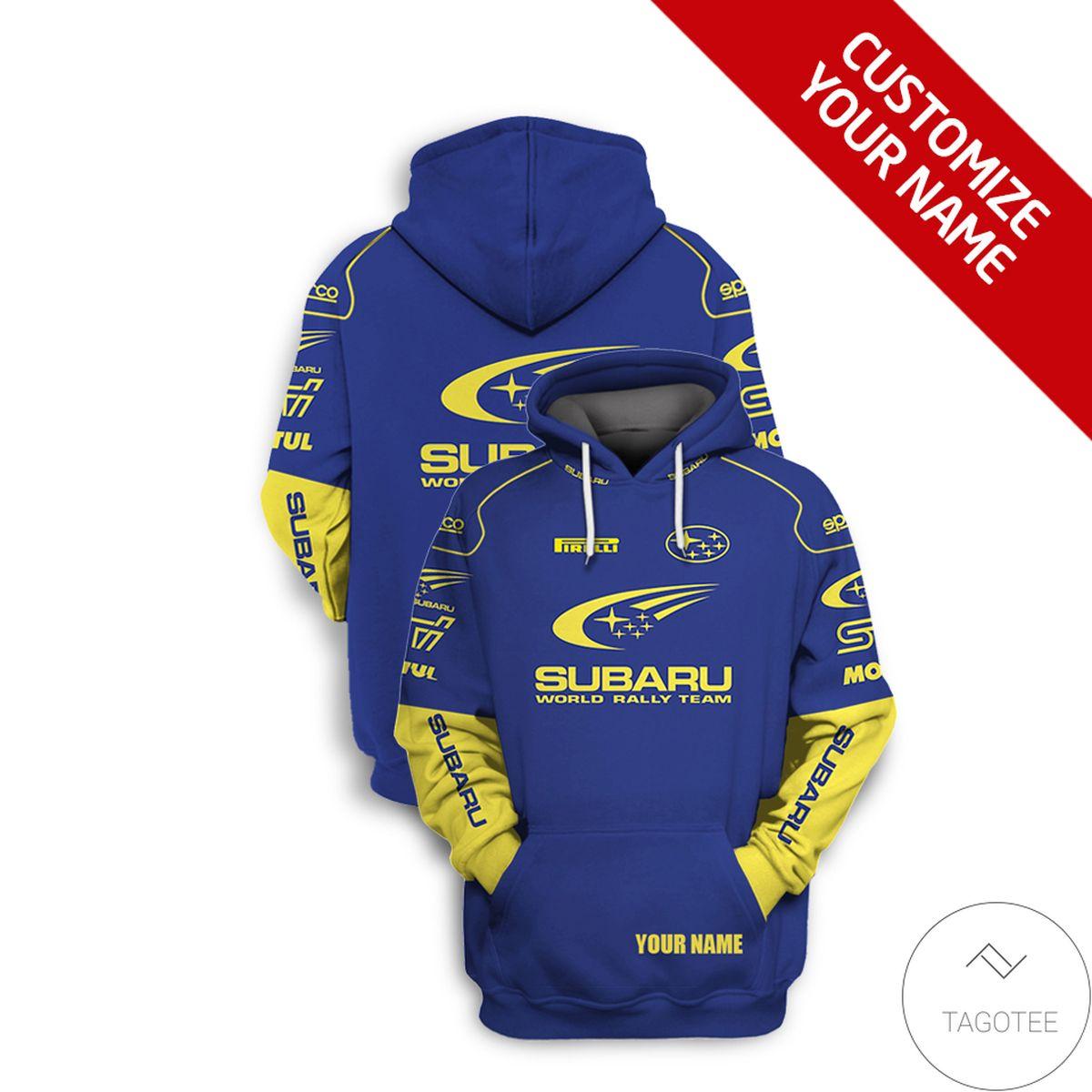 eBay Personalized Subaru World Rally Team 3D Hoodie