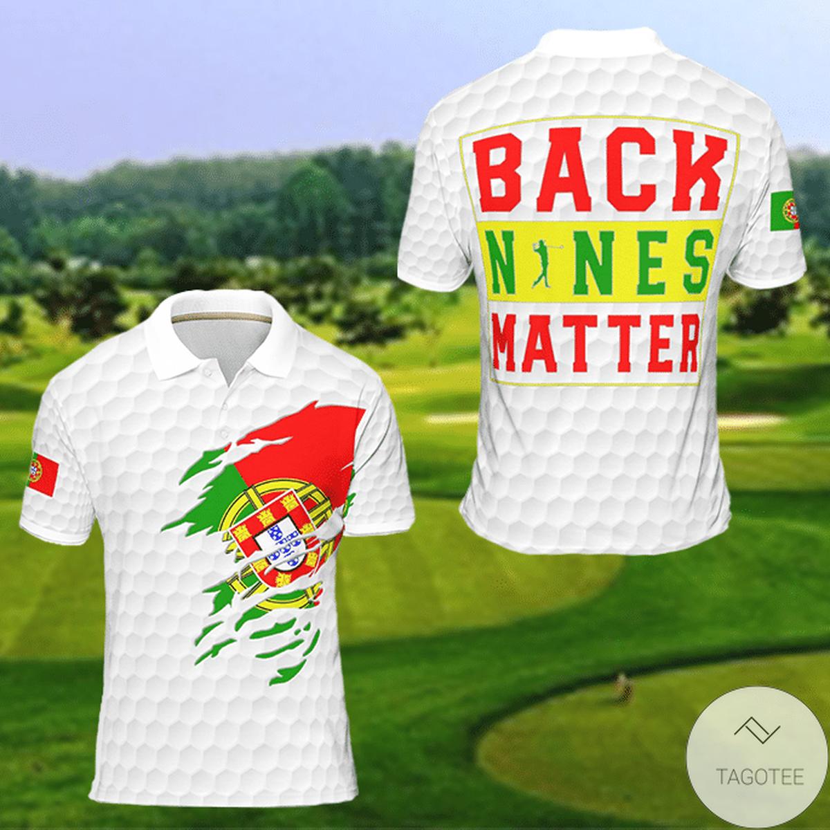 Portugal Back Nines Matter Golf Polo Shirtz