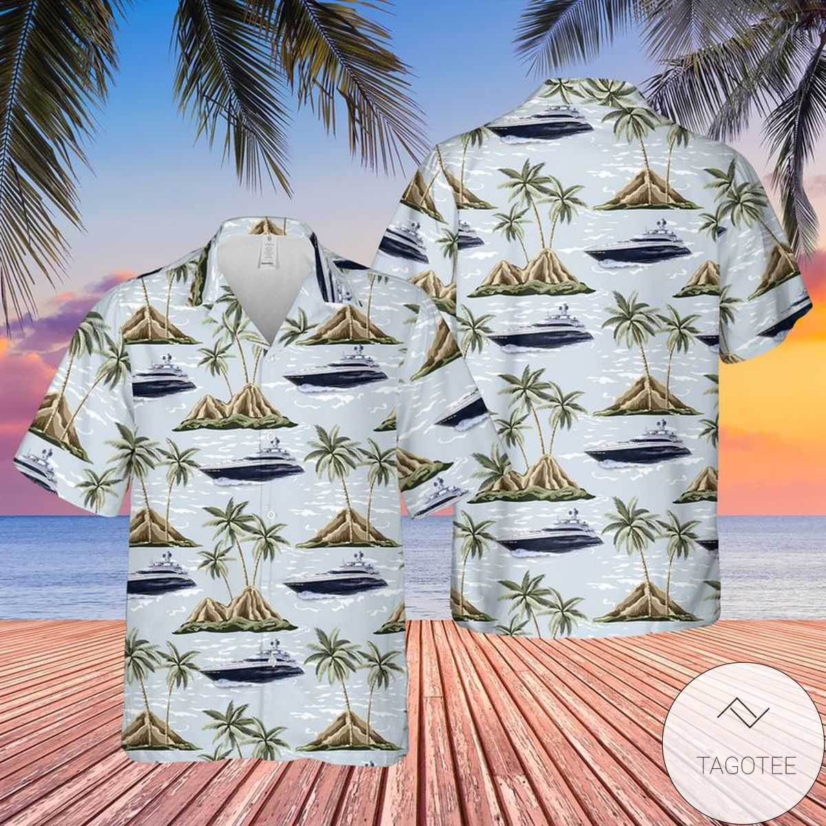 Princess Yachts America Hawaiian Shirt, Beach Shorts