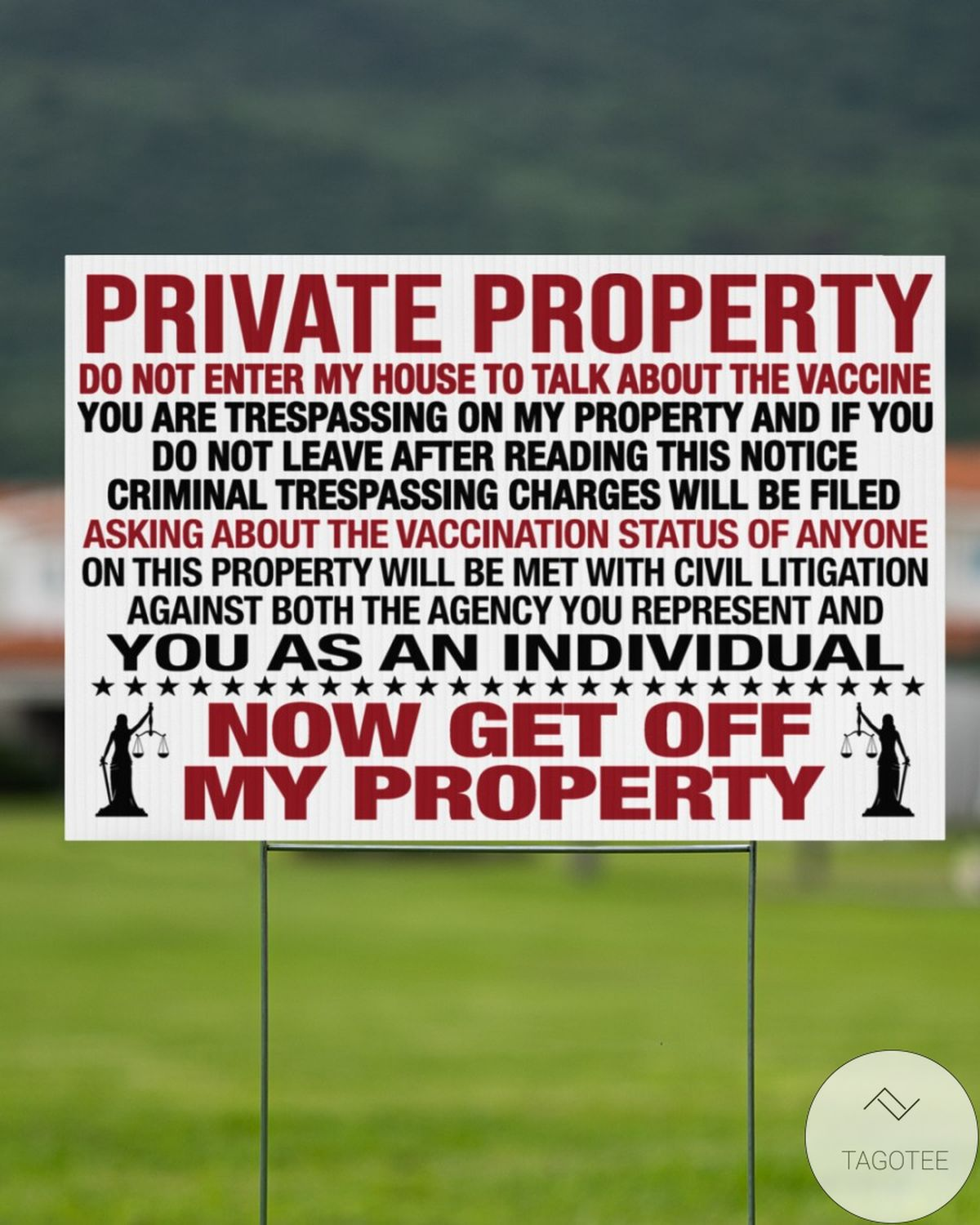 Private Property Do Not Enter My House To Talk About The Vaccine Door Knocker Warning Yard Signsc