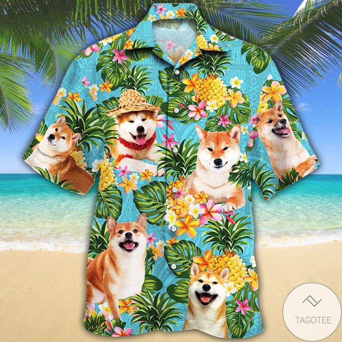 Shiba Inu Dog Lovers Pineapple Hawaiian Shirt