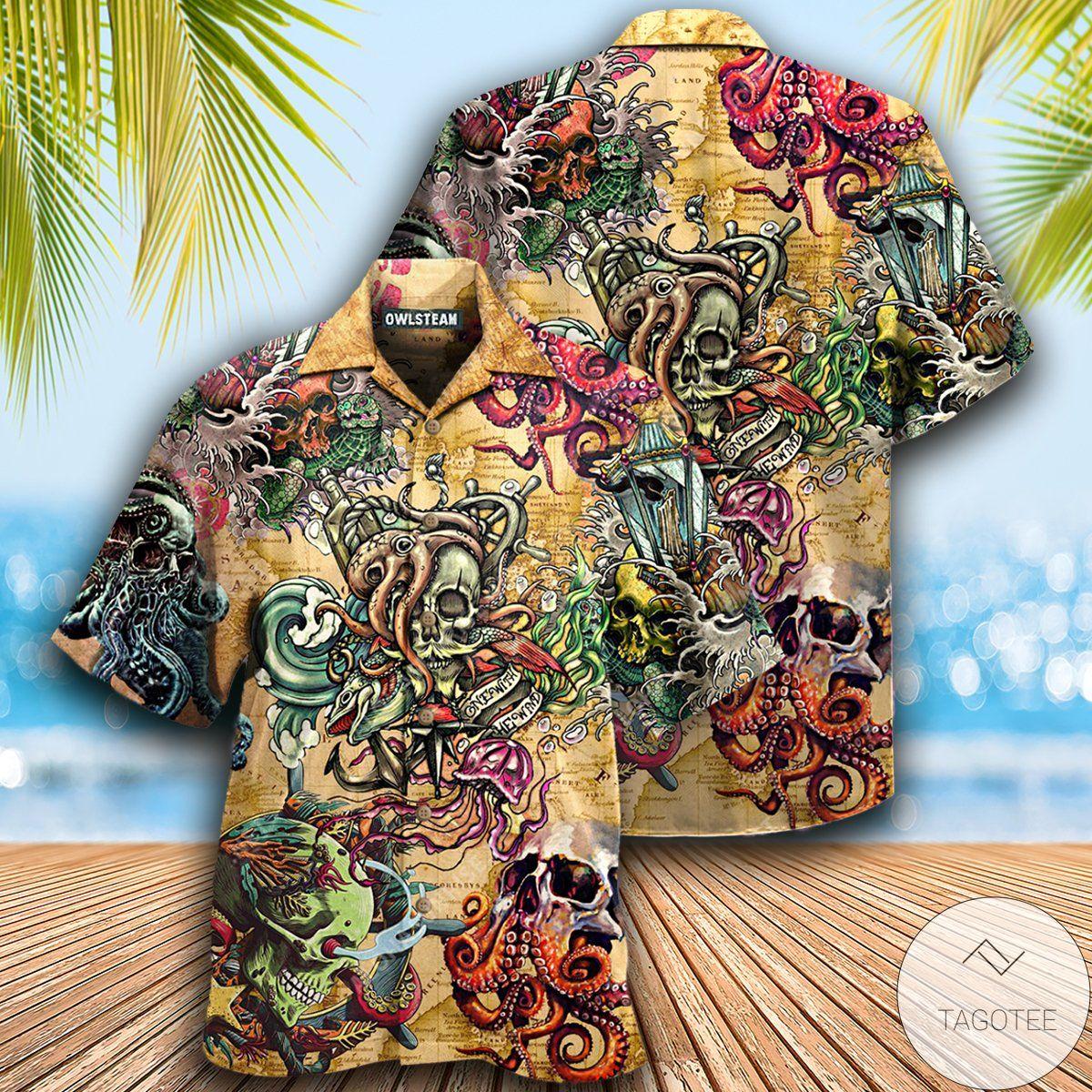 Skull Into The Sea Hawaiian Shirt