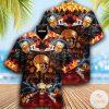 Skull Rock And Roll Hawaiian Shirt