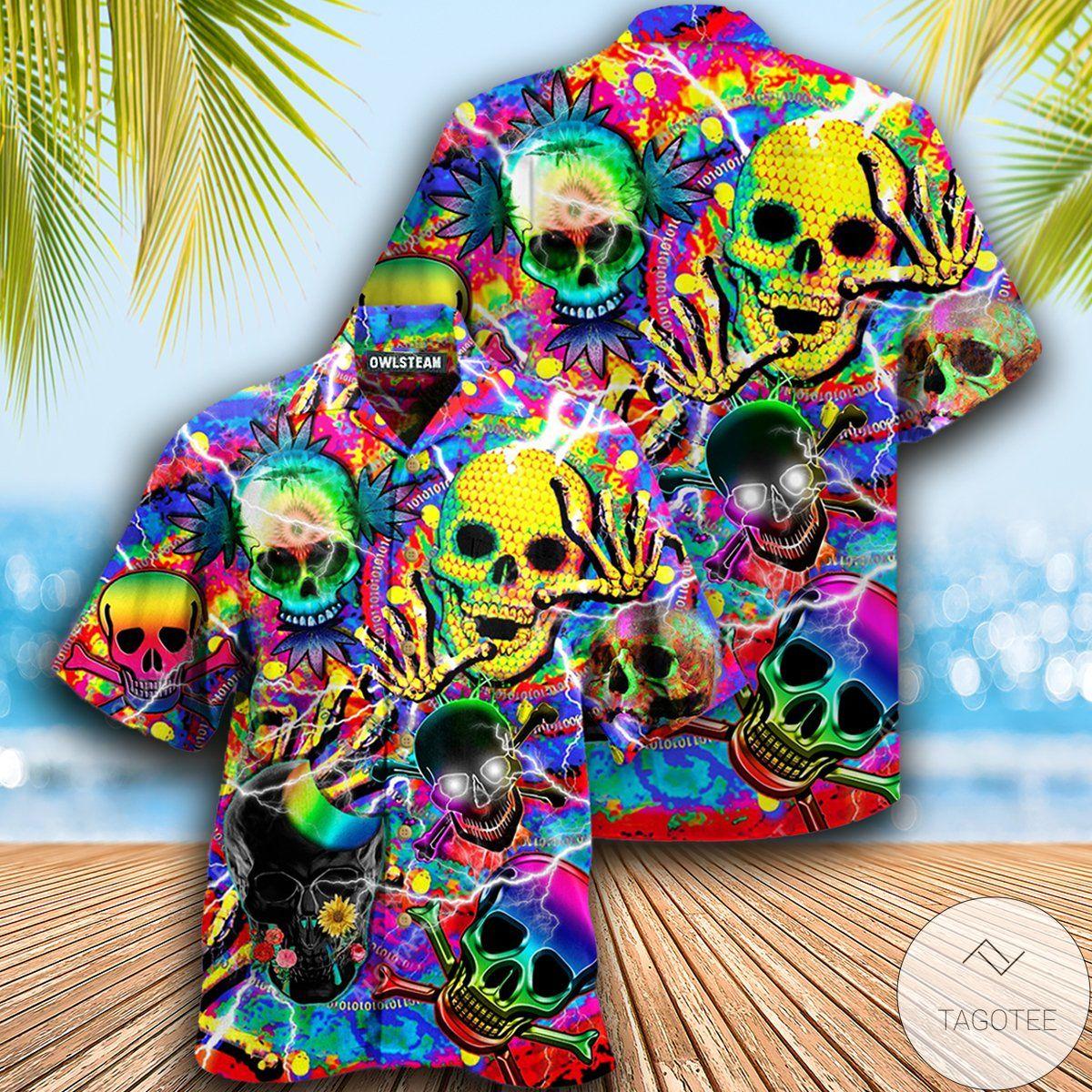 Skull Weed Say Hi Hawaiian Shirt