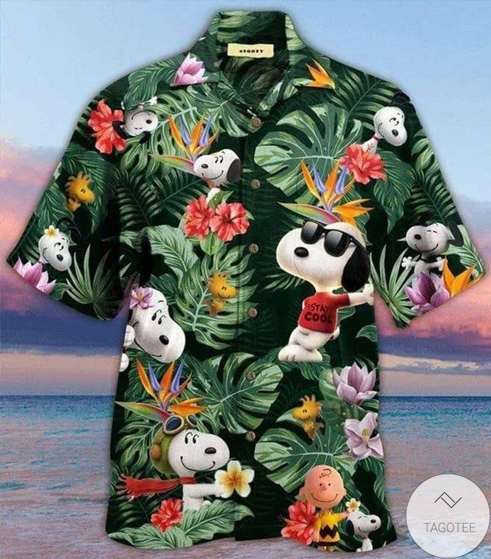 New Snoopy Tropical Aloha Hawaiian Shirt