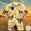 Texas Longhorn Cattle Lovers Farm Hawaiian Shirt