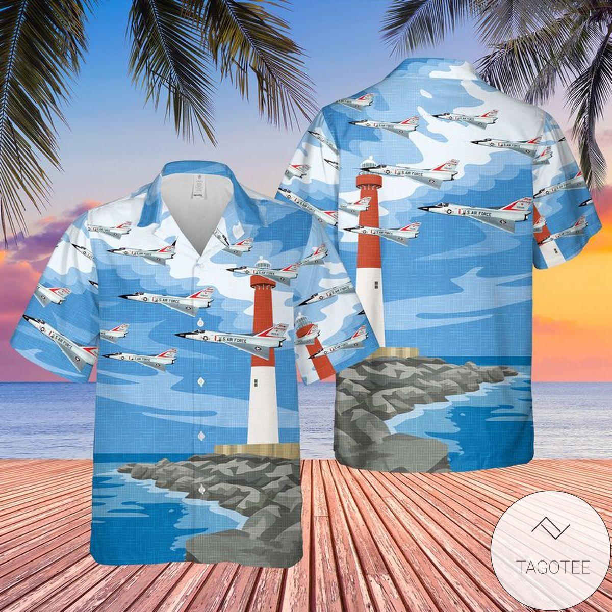 US Air Force Convair F-106 Delta Dart New Jersey Hawaiian Shirt, Beach Shorts