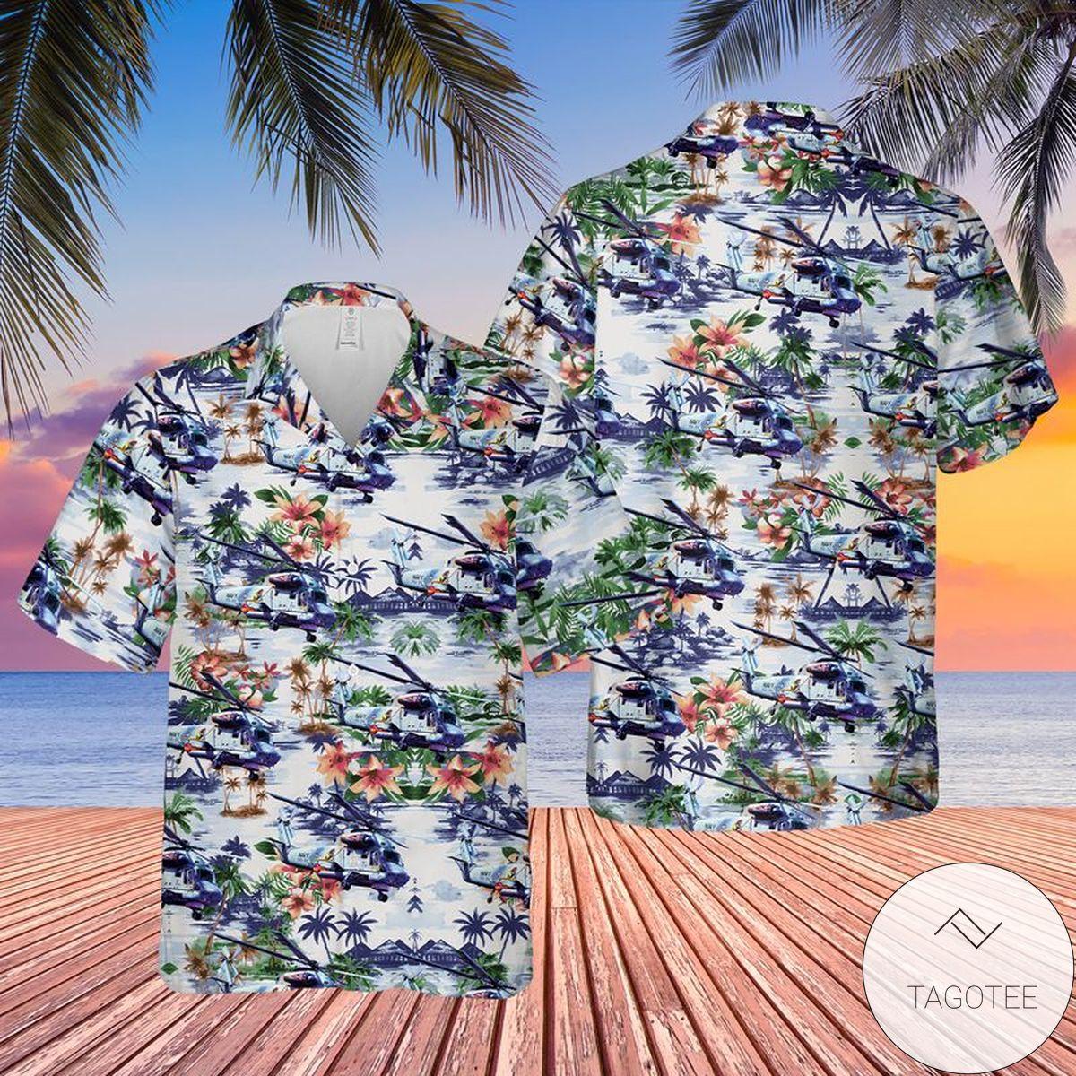 US Navy Kaman SH-2G Super Seasprite Hawaiian Shirt, Beach Shorts