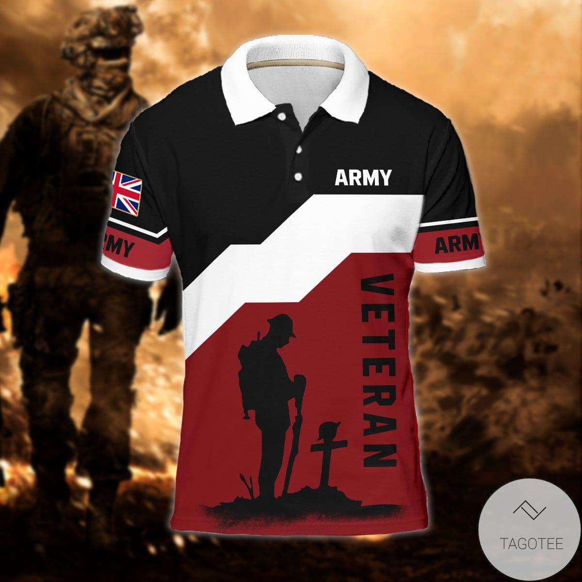 United Kingdom Army Veteran Polo Shirt