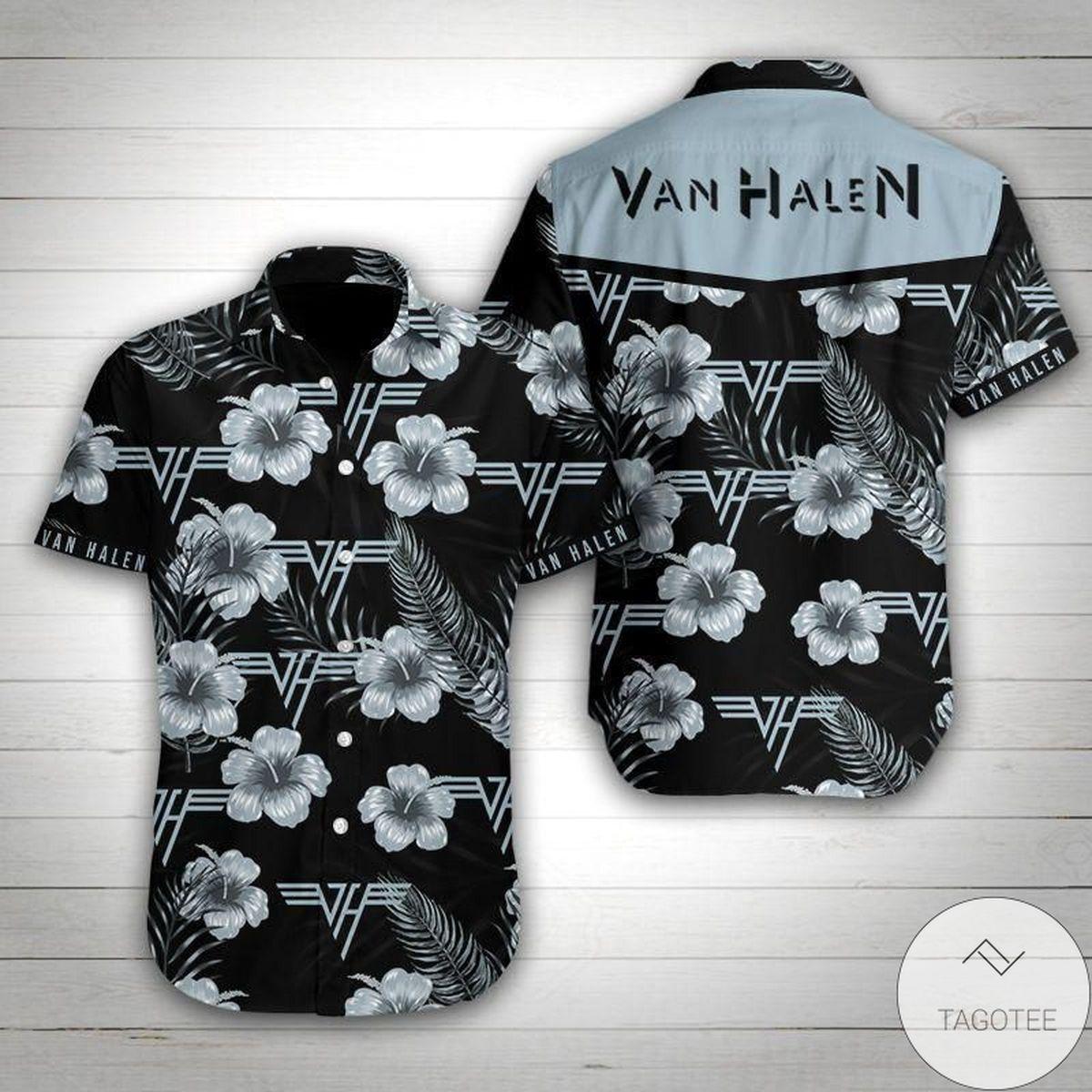 Van Halen Summer Button Up Hawaiian Shirt