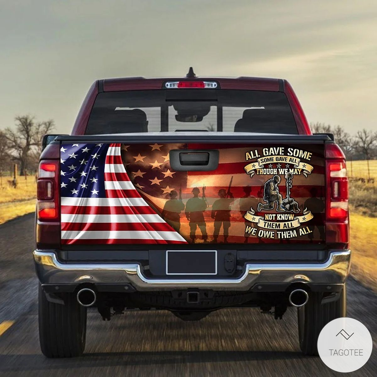 Veteran All Gave Some Some Gave All Tailgate Wrap