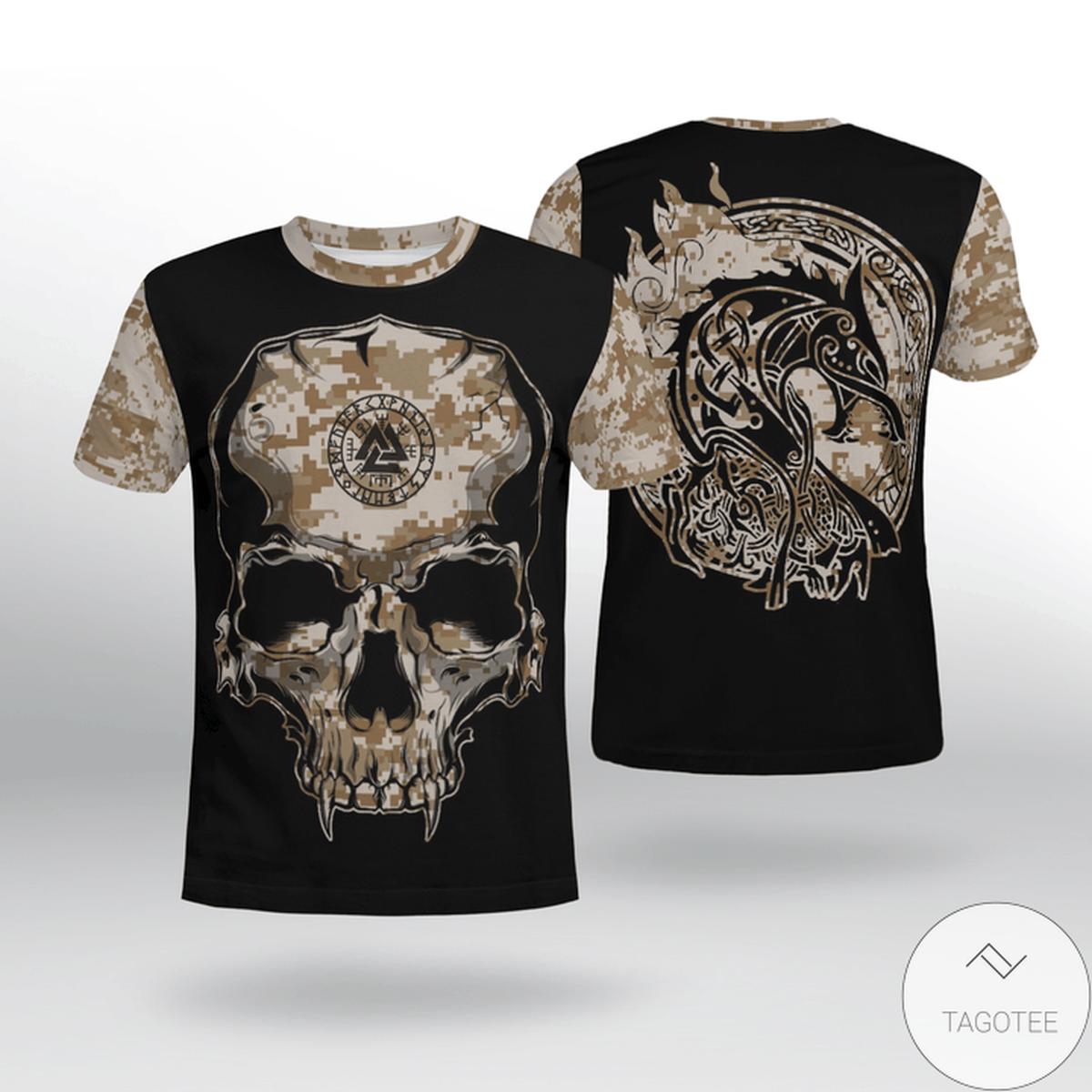 Viking Camo Valknut Rune 3D T-shirt