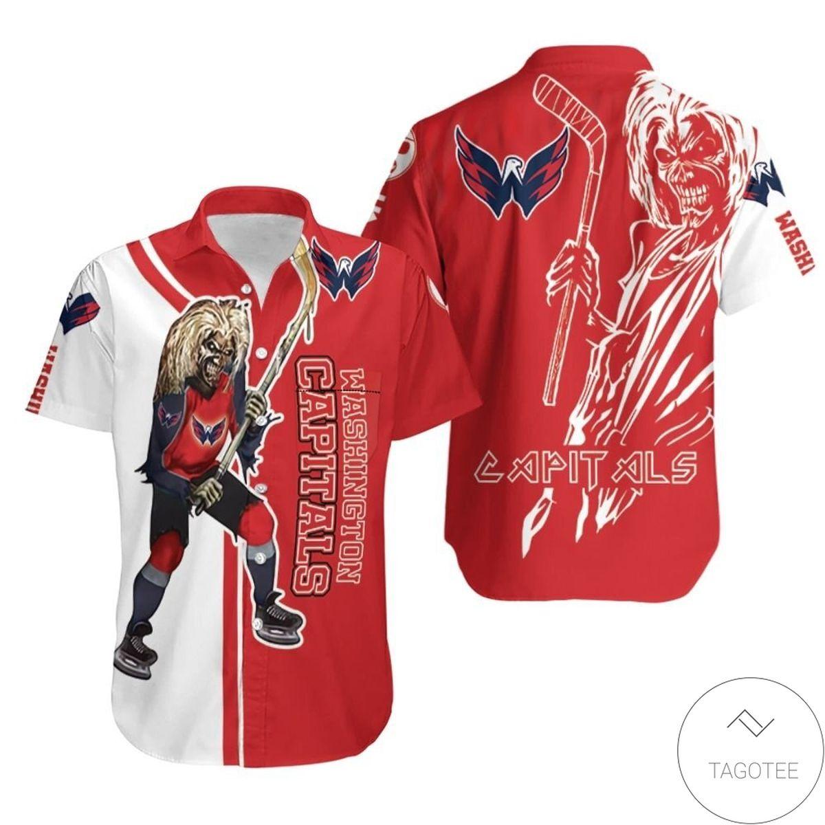 Washington Capitals And Zombie Hawaiian Shirt